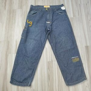 LRG 34x30 Large Embroidered Baggy Loose Fit Jeans